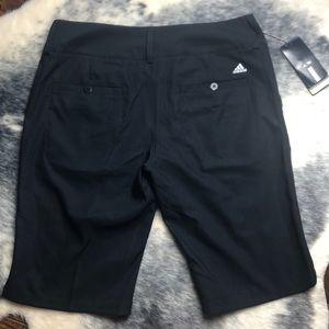 Ladies Adidas Climalite Golf Shorts Black NWT 10